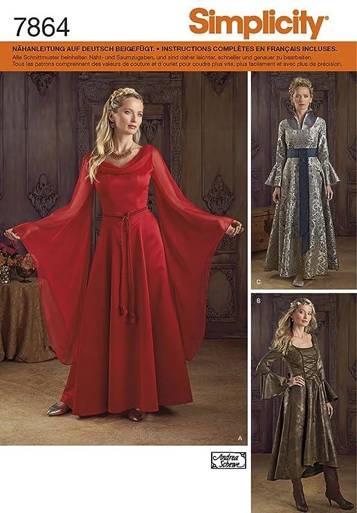 Burda Simplicity s7864. RR Schnittmuster Kleid Fantasy Damen Papier ...