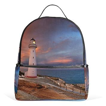 Coosun Lighthouse New Zealand School Backpack Lightweight Canvas