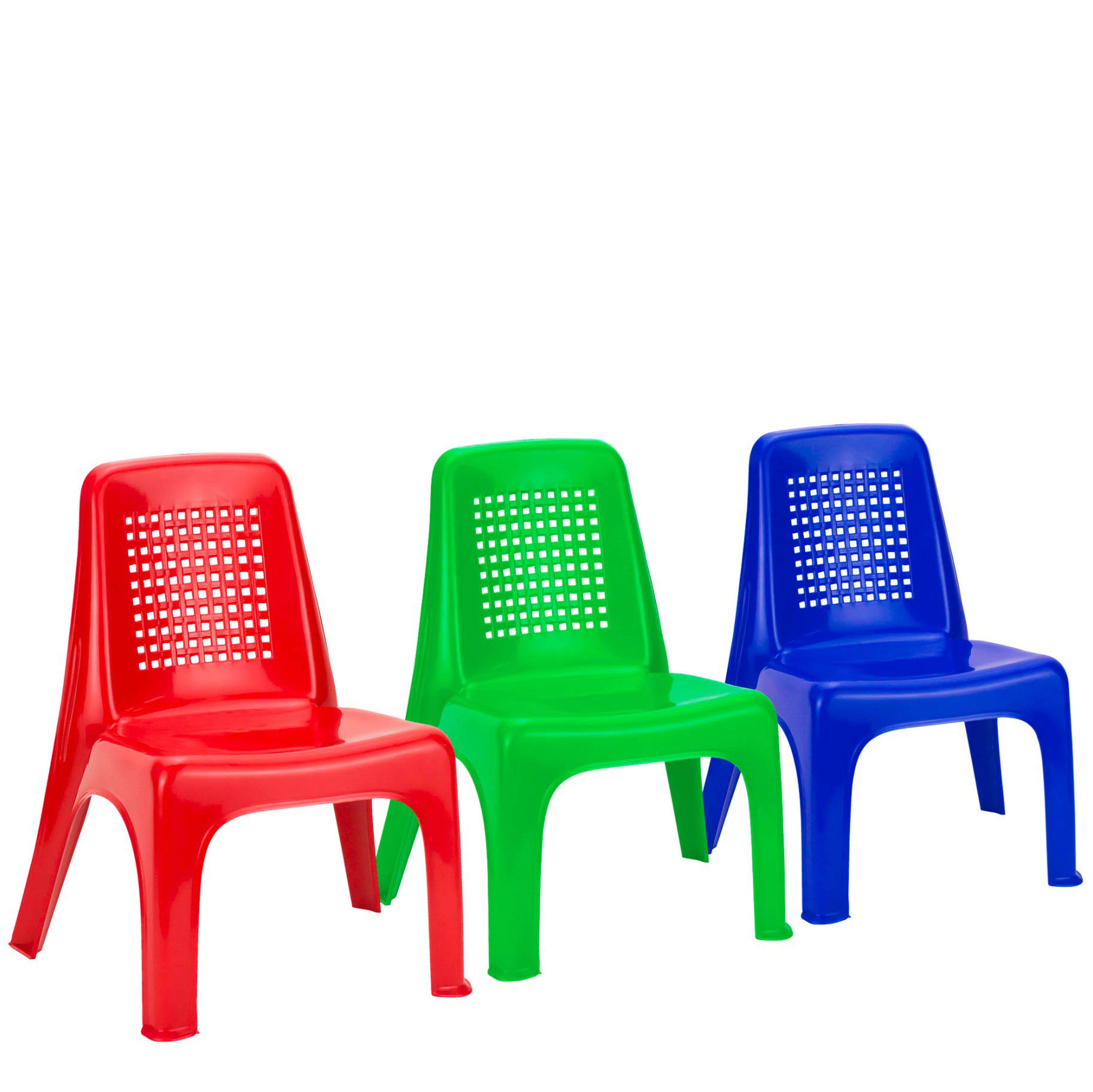 DecorRack 6 Toddler Chairs, BPA Free- Plastic Small Child Chair Set, Stackable Lightweight Portable Activity Furniture, Seat Kids Indoor Outdoor Beach Preschool Camping, Portable Play Chairs (6 Pack)