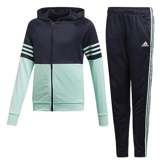 united kingdom most popular shop best sellers adidas Mädchen Hooded Polyester Trainingsanzug