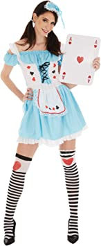 TecTake dressforfun Disfraz de Alicia para Mujer | Vestido Corto ...