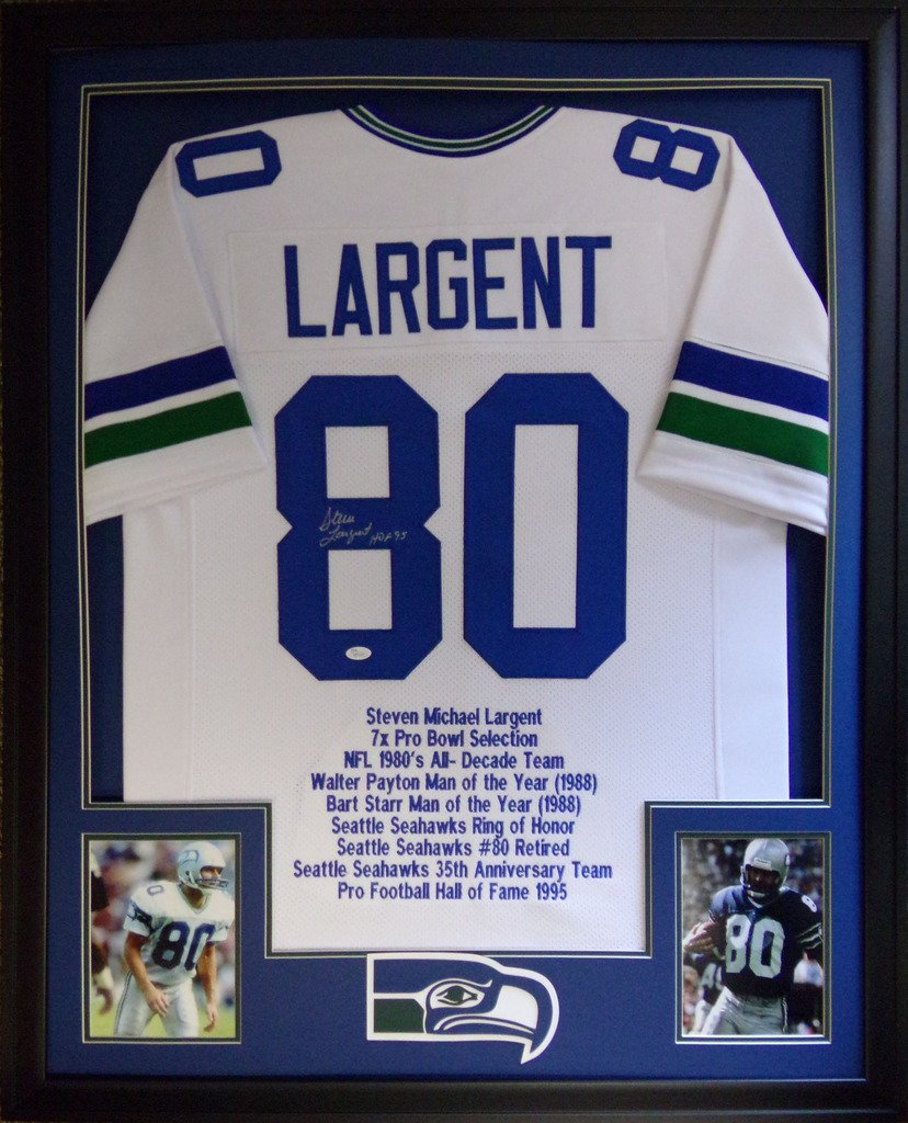 new styles 6de3c d183a Steve Largent Seattle Seahawks Autograph Signed Custom ...