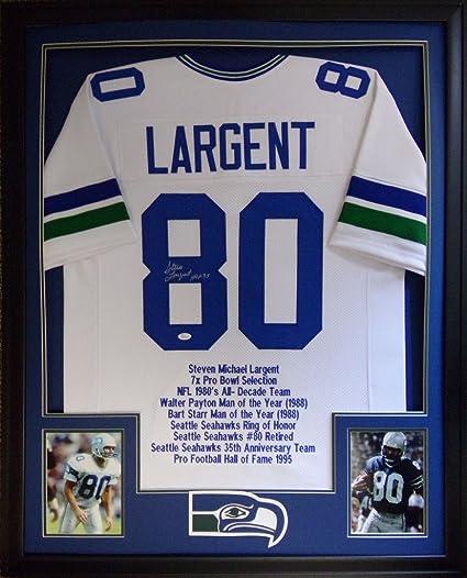 new styles 14155 02e71 Steve Largent Seattle Seahawks Autograph Signed Custom ...