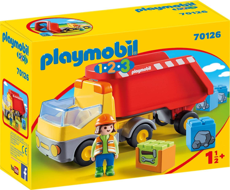 PLAYMOBIL PLAYMOBIL-70126 1.2.3 Camion Basura, Multicolor, Talla única (70126)