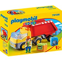 PLAYMOBIL PLAYMOBIL-70126 1.2.3 Camion Basura, Multicolor, Talla única