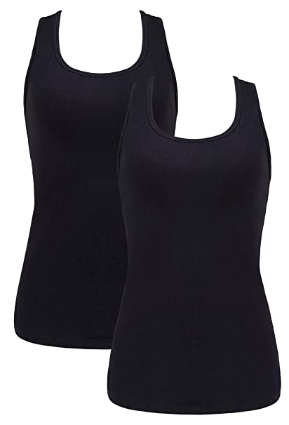 3021745e8af V FOR CITY Camisole for Women Basic Solid Long Camisoles Racerback Cami  Tank Top 2 Pack