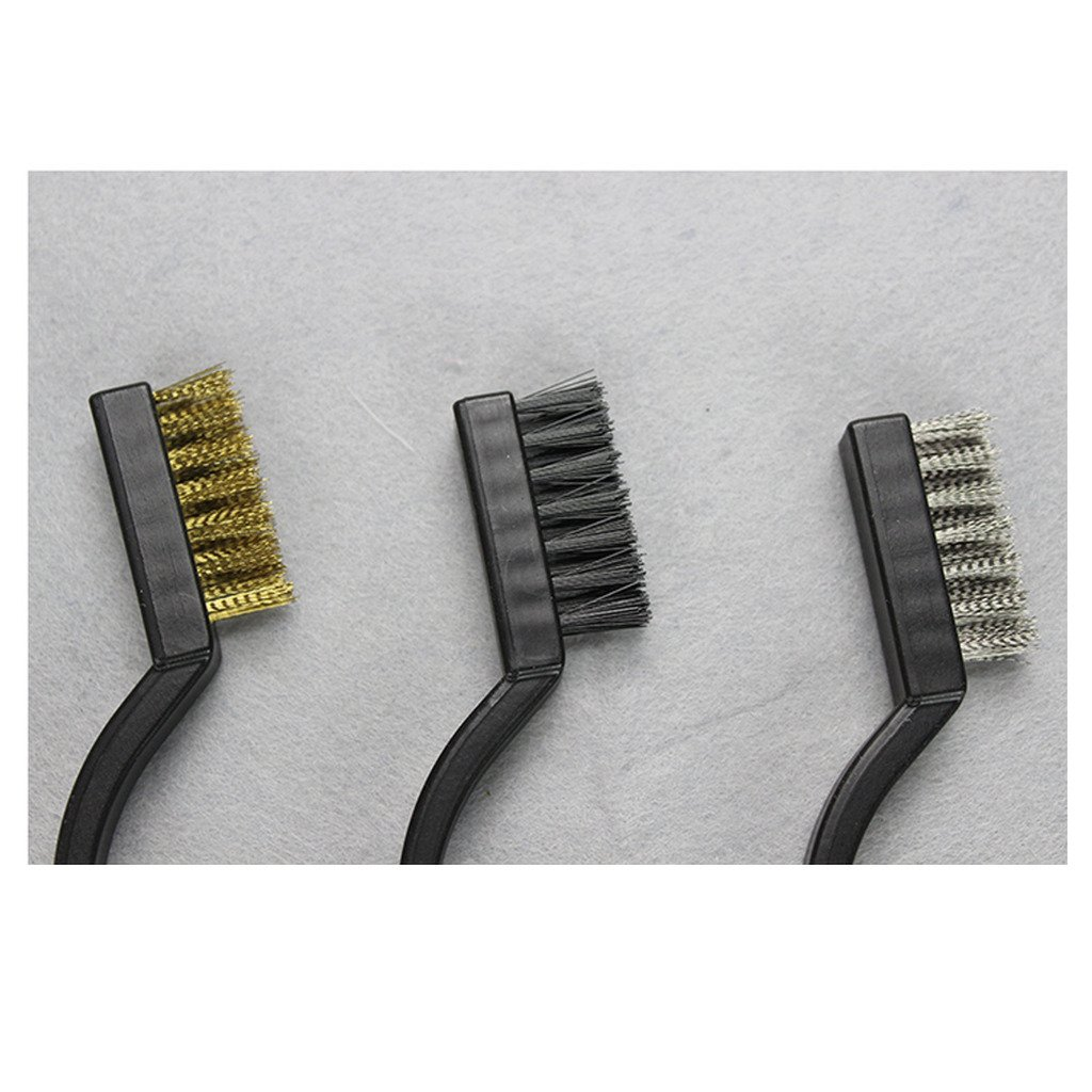 Nylon, laiton, acier inoxydable EHAO 3Pcs brosse m/étallique