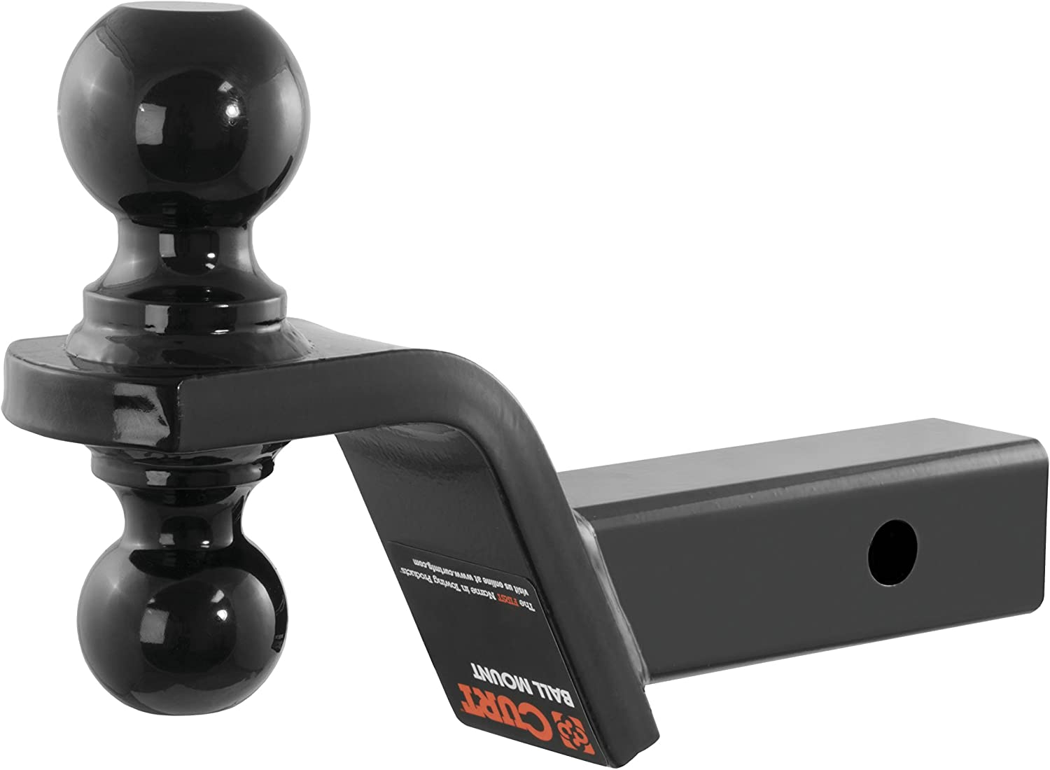 2-Inch Rise Fits 2-Inch Receiver GTW 4-Inch Drop 7,500 lbs CURT 45644 Reversible Trailer Hitch Ball Mount with 2-Inch and 2-5//16-Inch Trailer Hitch Balls