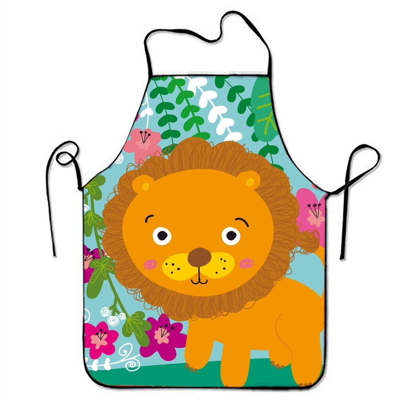 Delantales de cocina con diseño de león en la selva, para ...
