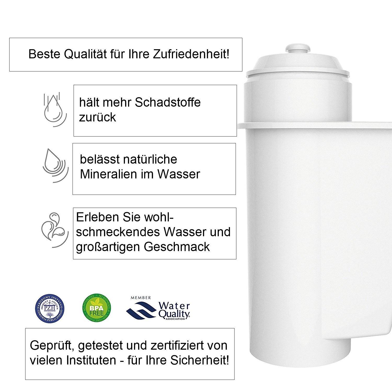 4 x AQK-01 cartucho compatible con Siemens Brita Intenza filtro TZ ...