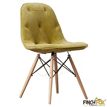 Finch Fox Eames Cushioned Dining Chair Wood Green