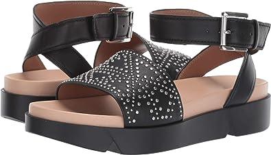 e202c710d24d Emporio Armani Women s Studded Platform Sandal Black Euro 36 (US Women s ...