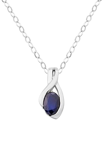 Miore mh8009n 18 ct white gold womens necklace genuine sapphire miore mh8009n 18 ct white gold womens necklace genuine sapphire pendant on 45 cm chain aloadofball Image collections