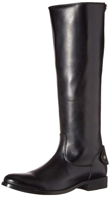 ba655e4cfd8 FRYE Women s Melissa Button Back Zip Fashion Boot Black 6 ...