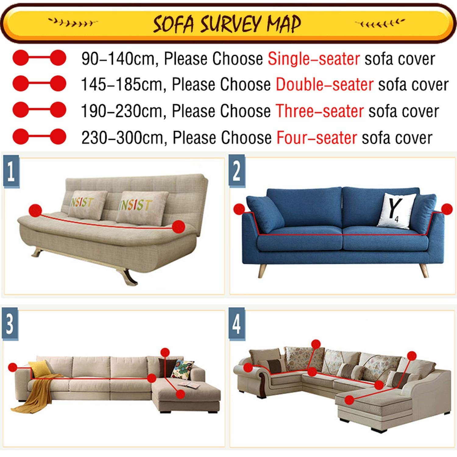 Amazon.com: Meet- fashion Protector Sofa Cover Sofa ...