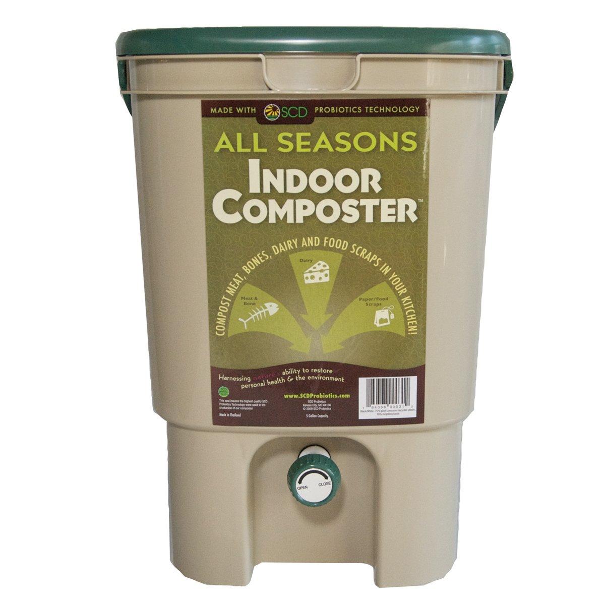 SCD Probiotics B100 All Seasons Indoor Composter- 1 Tan Bucket KTP