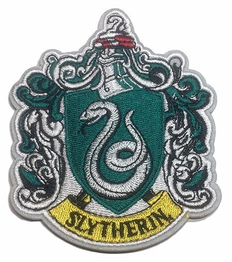 Amazon com: Slytherin Crest Larger Size Iron on Patch: Clothing