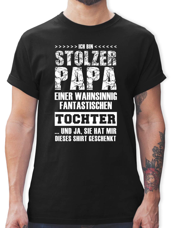 Shirtracer - Vatertagsgeschenk - Stolzer Papa Fantastischen Tochter - Tshirt Herren und Männer T-Shirts Bild