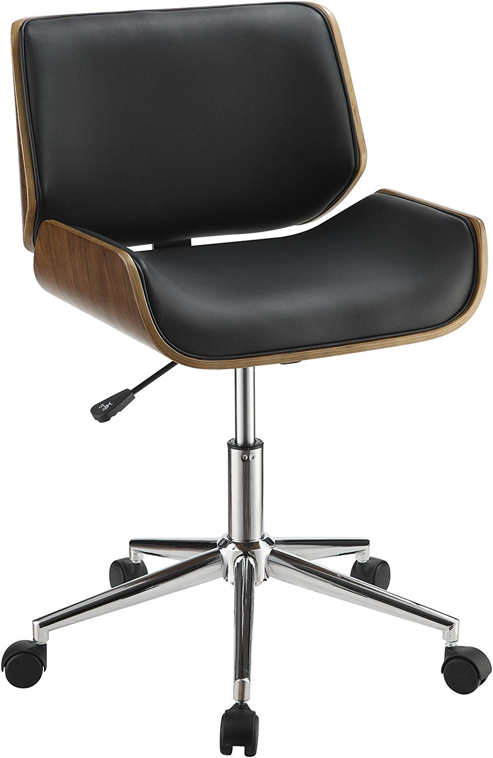 Coaster Home Furnishings Leatherette Office Chair, Black