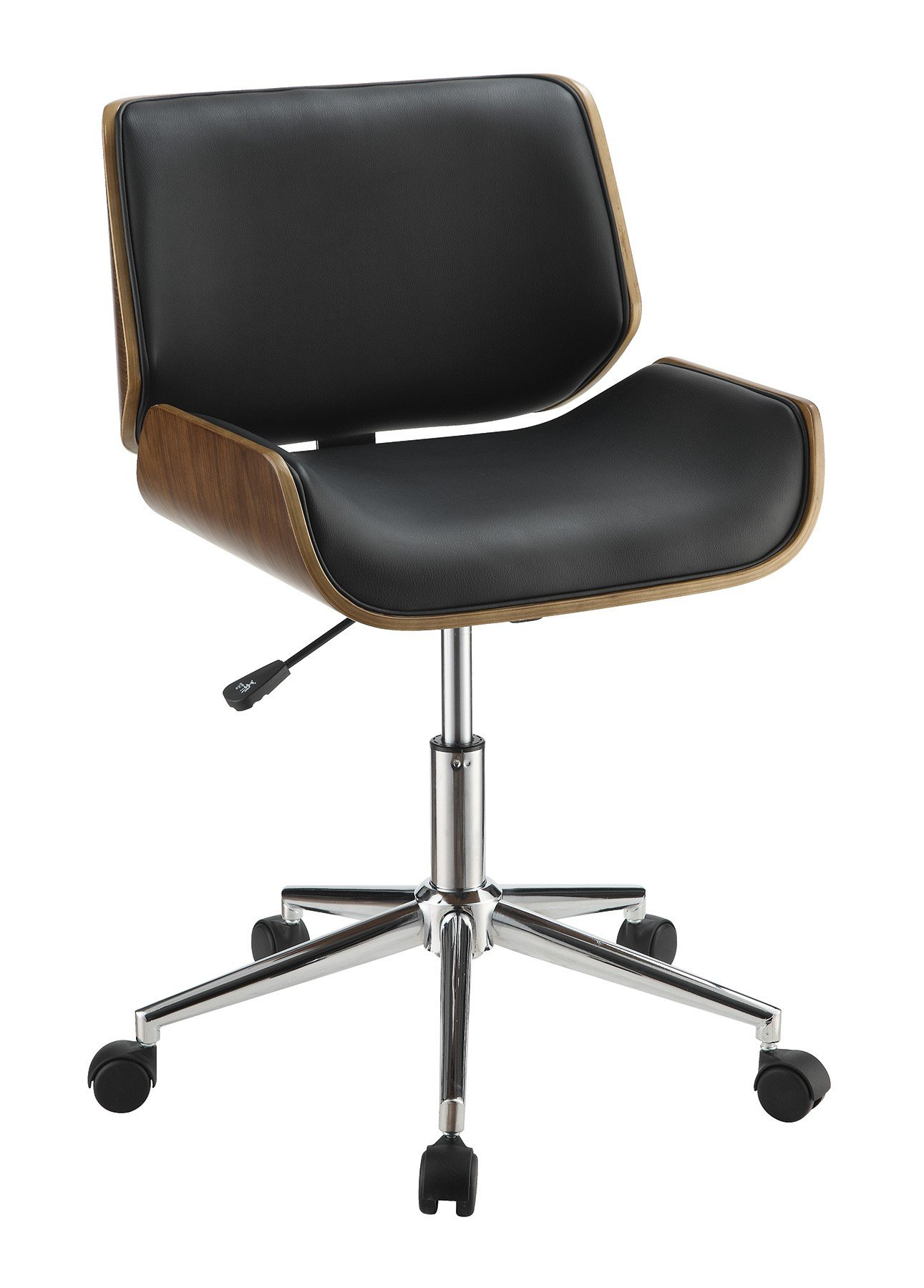 Coaster Home Furnishings Adjustable Height Office Chair Black and Chrome by Coaster Home Furnishings