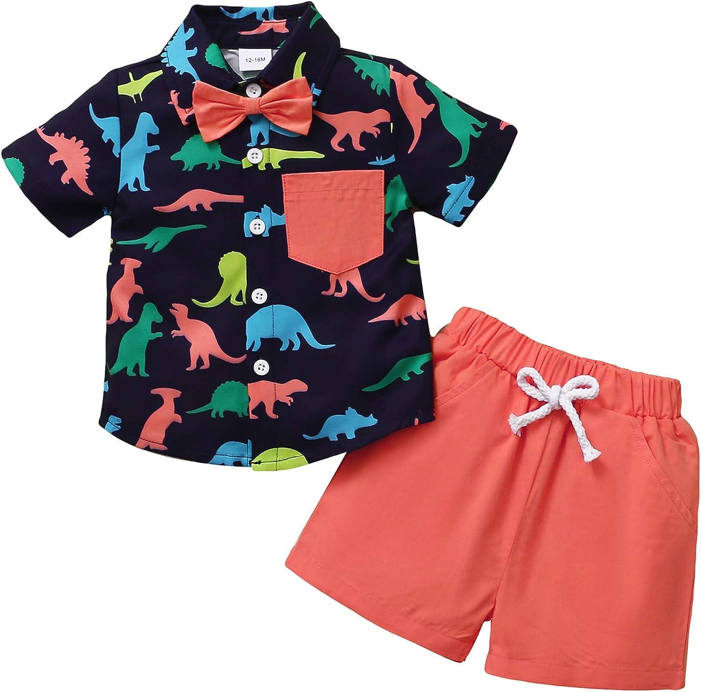 Toddler Baby Boy Clothes Shirt Tops Shorts Set Little Boy...