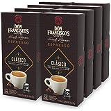 Don Francisco's Espresso Capsules Clasico, Intensity 9 (80 Pods) Compatible with Nespresso OriginalLine Machines, Single Cup Coffee