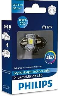 Philips 129404000KX1 X-tremeUltinon LED luz interior para coche C5W 30mm Festoon 4000K 12V,