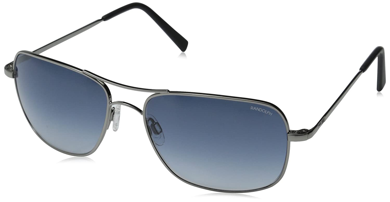 86765cae288 Amazon.com  Randolph Archer Sunglasses Dark Ruthenium Polished   Skull    Blue Gradient Nylon AR  Clothing