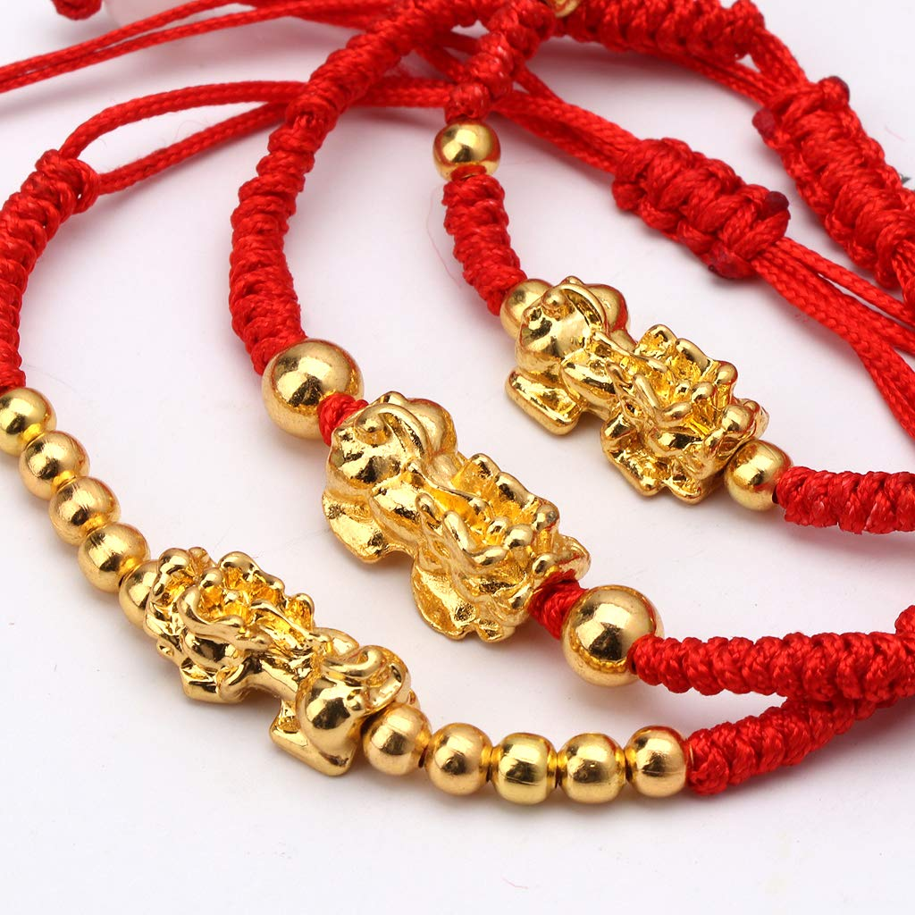 puhoon Chinese Feng Shui Bracelet, Pi Xiu Kabbalah, Red String Lucky Protection (C) by puhoon (Image #3)