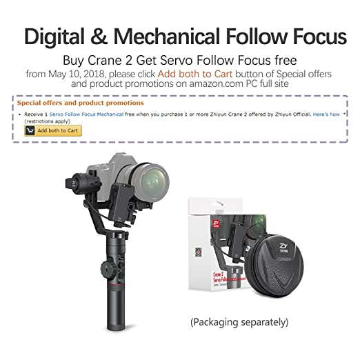 Amazon Com Zhiyun Crane   Axis Handheld Gimbal Stabilizer For Camera Get Free Servo Follow Focus Camera Photo