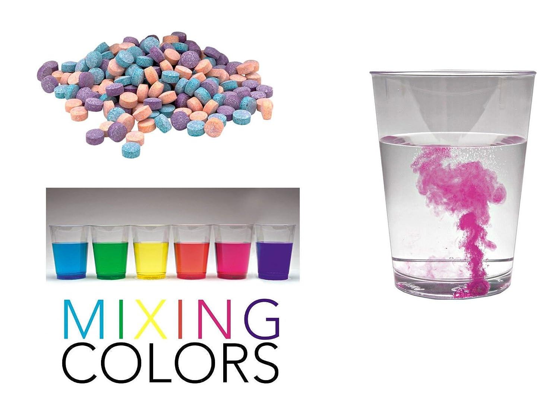 Color - Lote de 50 comprimidos efervescentes de colorante alimentario para tartas y cocina, color rojo, azul y amarillo: Amazon.es: Hogar