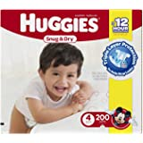 Huggies Snug 'n Dry Diapers, Step 4 (22-37 lbs), 200 ct