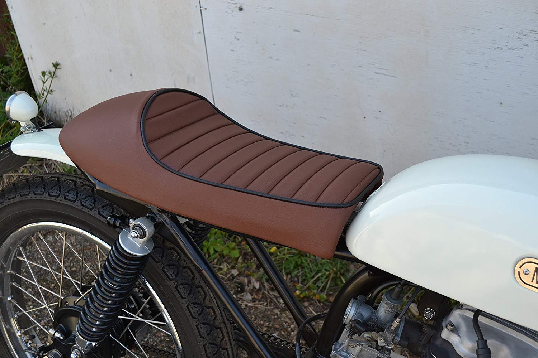 Marrone Sedile per Cafe Racer Streetfighter Moto Universale