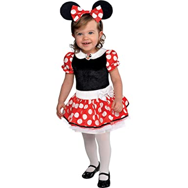 Amazon.com: Traje Yourself rojo Minnie Mouse Halloween ...