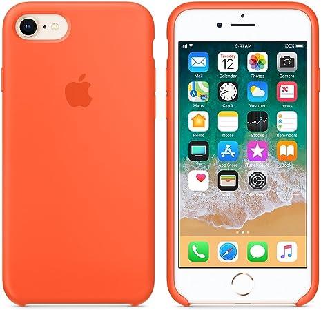 Image of Funda para iPhone 7/8 Carcasa Silicona Suave Colores del Caramelo con Superfino Pelusa Forro,Anti-rasguños Teléfono Caso para Apple iPhone 7/8 (Naranja)