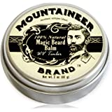 Magic Beard Balm Leave-in Conditioner by Mountaineer Band | Natural Oils, Shea Butter, Beeswax Nourishing Ingredients…