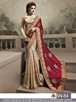 Sunshine Fashion Georgette Saree with Blouse Piece