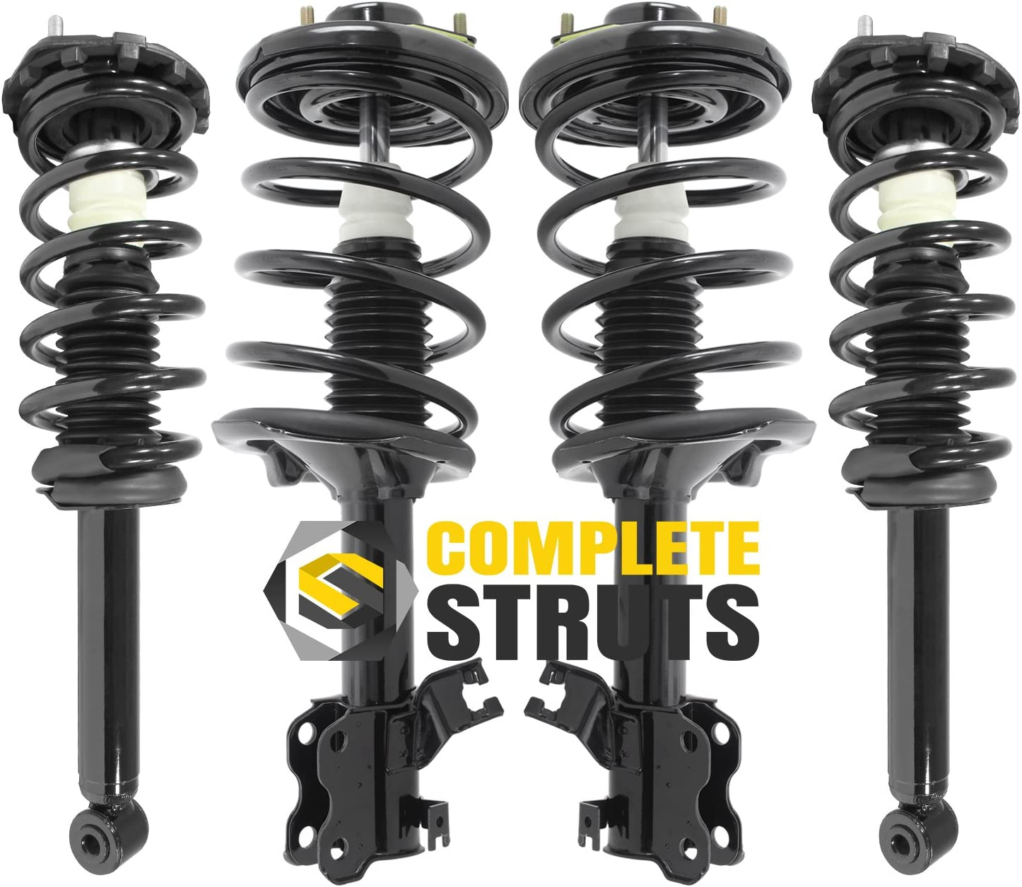 Set of 4 Front /& Rear Quick Complete Struts /& Coil Spring Assemblies Compatible with 2002-2003 Nissan Maxima