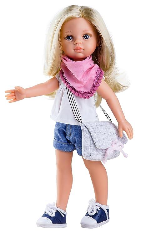 Abiti e scarpe Bambole Fashion e accessori Paola Reina 74587Vestito con Scarpe per 32cm Carla Winter Doll