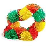 Tangle Jr. Hairy Sensory Fidget Toy, Green Red Orange Yellow