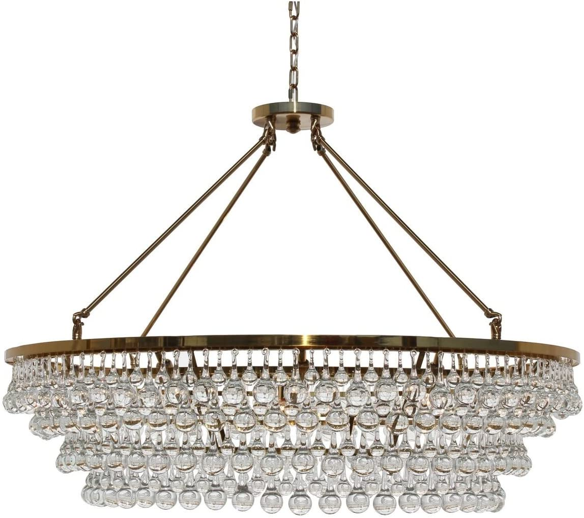 Celeste Extra Large Glass Drop Crystal Chandelier, Black