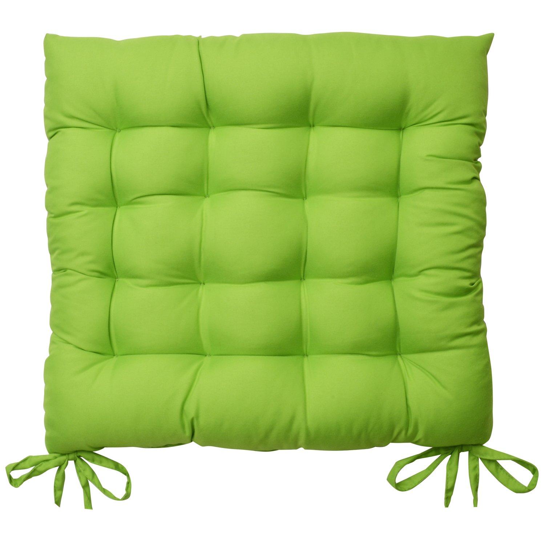Beautissu Set 6 Lea - comodísimos Cojines para sillas - Vivienda o terraza - 40 x 40 x 5 cm - Verde Manzana