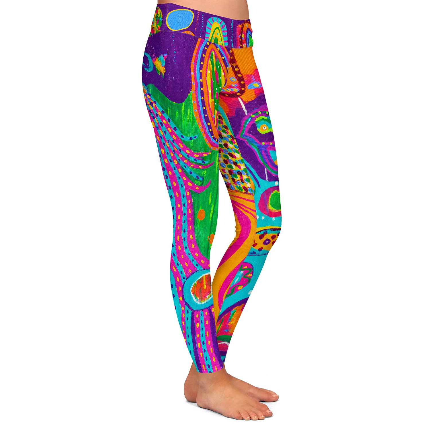 Athletic Yoga Leggings from DiaNoche by Michele Fauss Creatures of Lollipop Land
