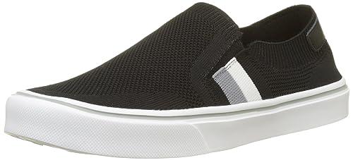 0d577b8d8 Tommy Hilfiger Men s Lightweight Corporate Slip On Low-Top Sneakers Black  990 6.5 UK