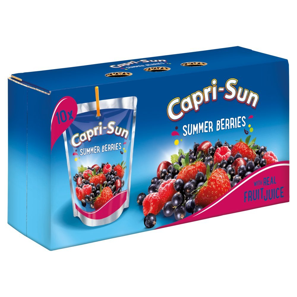 Capri- Sun Drink Summer Berries, 10 x 200 ml: Amazon.co.uk: Prime Pantry