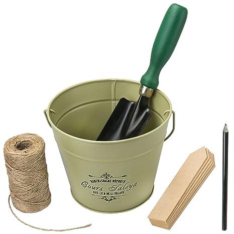 Fleurs de Jardinage Truelle Coffret cadeau en bois Étiquettes Crayon ...