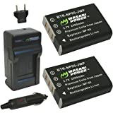 Wasabi Power Battery (2-Pack) and Charger for Fujifilm NP-95 and Fuji FinePix REAL 3D W1, X100, X100S, X-S1