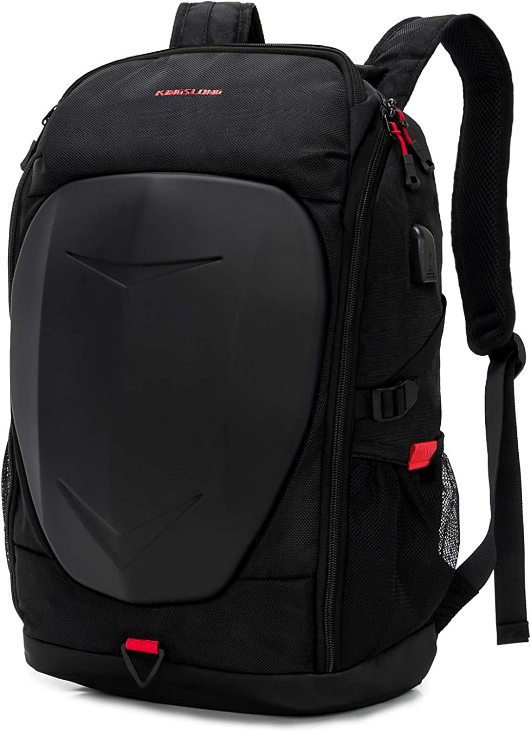 KINGSLONG 17 Inch Outdoor Laptop Backpack for Mens Travel Gaming Motorcycle Work Backpack Waterproof