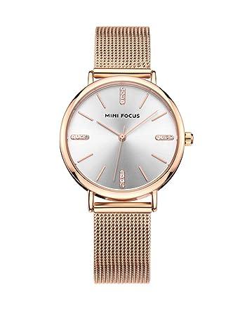 Women S Crystal Rose Gold Boyfriend Watch Metal Mesh Strap Noble Fashion Unique Nice Ladies Watch