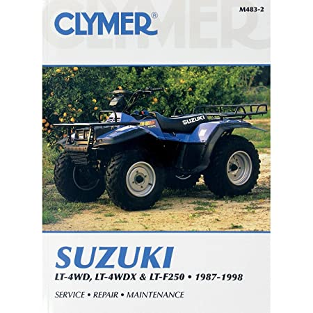 amazon com clymer repair manual for suzuki atv lt lt x lt f250 87 rh amazon com Suzuki 250 Quadrunner Carburetor Schematic Suzuki Quadrunner 250 4x4 Forum